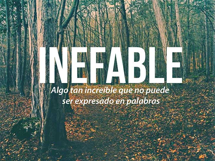 inefable palabra